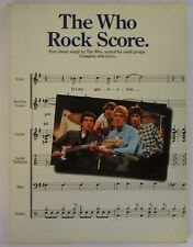 THE WHO ROCK SCORE  - LIBRO SPARTITI  CON 5 CANZONI
