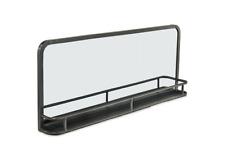 Large Stylish Industrial Iron Mirror With Shelf by Nkuku