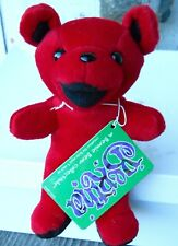 """Grateful Dead """" Bertha """" Beanie Baby 7"""" Tall Made By Liquid Blue (New) Color Red"""