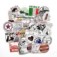Travel Stamp Postmark Adhesive Decorative Notebook DIY Diary Scrapbook Sticker S
