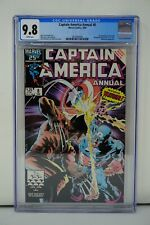 MARVEL COMICS CGC 9.8 CAPTAIN AMERICA ANNUAL 8 1986 WHITE PAGES