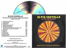 CD PLASTIC SLEEVE COLLECTOR ELVIS COSTELLO & THE IMPOSTERS 16T SPECTACULAR ....