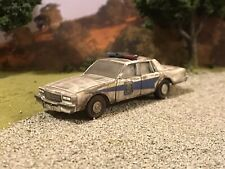 1986 Chevy Caprice Rusty Weathered 1/64 Diecast Car Barn Find Indiana Police