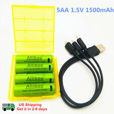 Rechargeable Batteries  AA 1.5V 1500mAh USB Quick Charging Lithium Polymer