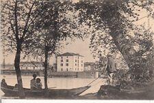 Carte postale ancienne CLAIRAC écluse et moulin de longueville timbrée 1908