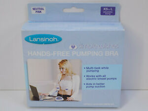 NEW Lansinoh Simple Wishes Hands Free Pumping Bra - Neutral Pink - XS to L