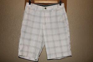 "VOLCOM Mens 30"" Waist Frickin plaid Chino shorts Combine ship Discount"