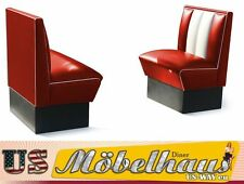 2xHW-70 American Diner Bench Furniture 50´S USA Style Catering