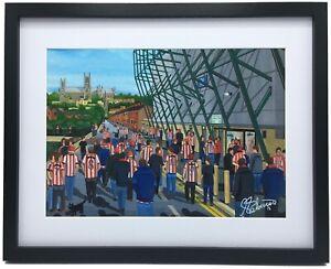 Lincoln City FC Sincil Bank Stadium High Quality Framed Art Print. Approx A4.