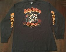 Harley-Davidson Fatboy L Brown Long Sleeve T-shirt Bedford Heights Ohio