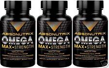 3X Absonutrix Omega 3 Max Strength Fish Oil EPA-800 DHA-600 Pharmaceutical Grade