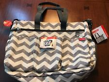 NWT Skip Hop Duo Double Signature Diaper Bag w/ changing pad travel Chevron
