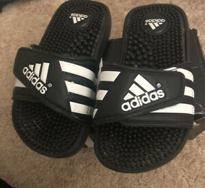 Adidas Adissage Sport Sandal 078285 Black White US Size 13k (13c) New