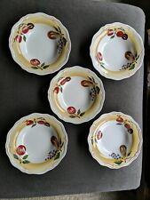 5 - Longaberger Pottery - Napa Orchard - Cereal / Salad Bowls