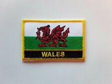 WALES NATIONAL RED DRAGON RUGBY FOOTBALL FLAG EMBROIDERED PATCH UK SELLER