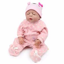 22'' Full body Silicone Reborn Baby Girl Doll Bathe Best Bebe newborn Toy Doll