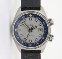 .Vintage 69 Girard Perregaux Gyromatic Ladies Steel Compressor watch box papers