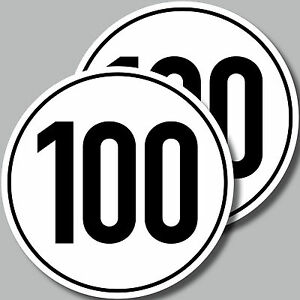 2 Aufkleber 10cm Sticker 100 kmh km/h Trailer Anhänger Mofa Quad Kart Vespa Spaß