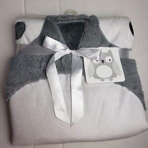 Tummy Time Grey Owl Mat