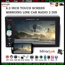 6.2'' 2 Din Car Radio Touch Screen  BT Stereo +Camera FM Mirror Link MP5 Player