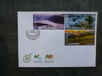 2015 LUXEMBOURG NATURE RESERVES SET 3 STAMPS FDC FIRST DAY COVER