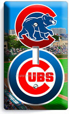 CHICAGO CUBS MLB BASEBALL TEAM LOGO SINGLE LIGHT SWITCH WALL PLATE COVER DECOR