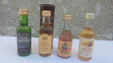 Lot de 4 Whisky /Brandy Mignonnettes Anciennes
