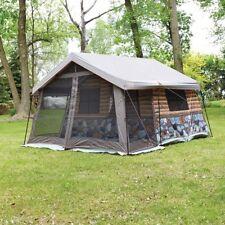 "8 Man Log Cabin Camping Tent Waterproof Canopy Tub Floor Vents 13""L x 12""W x 7""H"