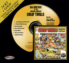BIG BROTHER AND THE HOLDING CO. Cheap Thrills 24 KT GOLD CD Audio Fidelity NEW
