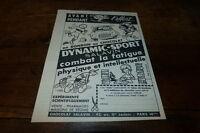 SALAVIN - DYNAMIC-SPORT - Publicité de presse / Press advert !!! 1962 !!!