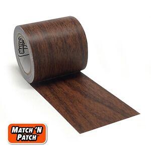Match 'N Patch Realistic Wood Grain Repair Tape, Dark Walnut