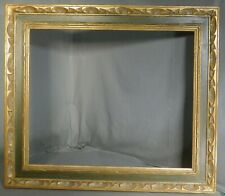 Vintage carve Gilt Wood Polychrome Spanish Baroque Cassetta Picture Frame 20x24