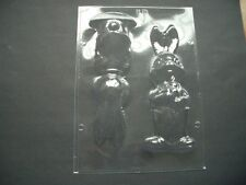 GIANT 2 ON 1 EASTER BUNNY/CHEEKY BOY RABBIT WITH CARROTS CHOCOLATE MOULD/MOULDS