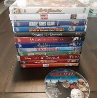 Disney Dvd Lot 13 Movies (Cars, Bolt, Mulan, Aladdin)