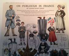 On Furlough In France Paper Dolls Delineator Magazine March 1918 Original