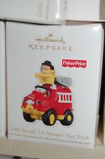 Hallmark 2011 Fisher Price Little People Lil Movers Fire Truck Toy Ornamen