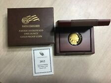2012 W American Buffalo $50.00 Gold One Ounce PROOF Coin In Original Display Box
