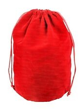 Extra-Large Red Velveteen Gusseted Flat Bottom Dice Bag w/ Dual Drawstrings