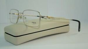 FRED LUNETTES Saint Thomas C3 005 Platine & Gold Brille Frames Eyeglasses 56mm