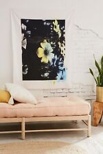 """Urban Outfitters Home Tapisserie Offset Floral Tapestry 40"""" X 50"""" Cotton NWT"""
