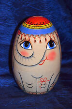 "Khokhloma Russian Hand Painted  collectible piggy bank ""Elephant"""