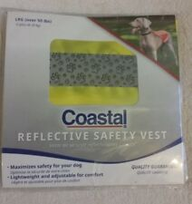 Coastal Reflective Safety Vest Dog Neon Yellow Large (over 50 lbs)