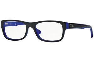 New Authentic Ray Ban RB5268 5179 Black/Blue Optical Eyeglasses Frame 52-17-135