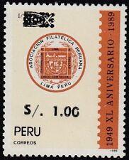 Peru 982 1992 XL Jubiläum Philatelistischer Verein Peruanische MNH