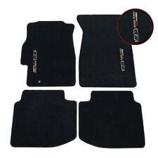 Fit For 96-00 Honda Civic Black Nylon Floor Mats Carpets w/ Mugen