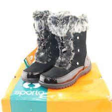 SPORTO womens winter boots shoe multiple sizes black mid-calf minor style NEW