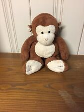 "14"" LARGE TY PLUFFIES 2004 DANGLES BABY BROWN MONKEY STUFFED ANIMAL PLUSH"