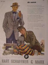 1944 Esquire Original Ads WWII Era Hart Schaffner Marx Schenley Whiskey