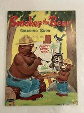 Vintage 1958 Smokey the Bear Coloring Book - Whitman - Prevent Forest Fires