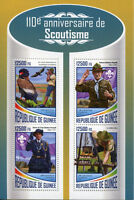 Guinea 2017 MNH Scouting Robert Baden-Powell Birds 4v M/S Boy Scouts Stamps